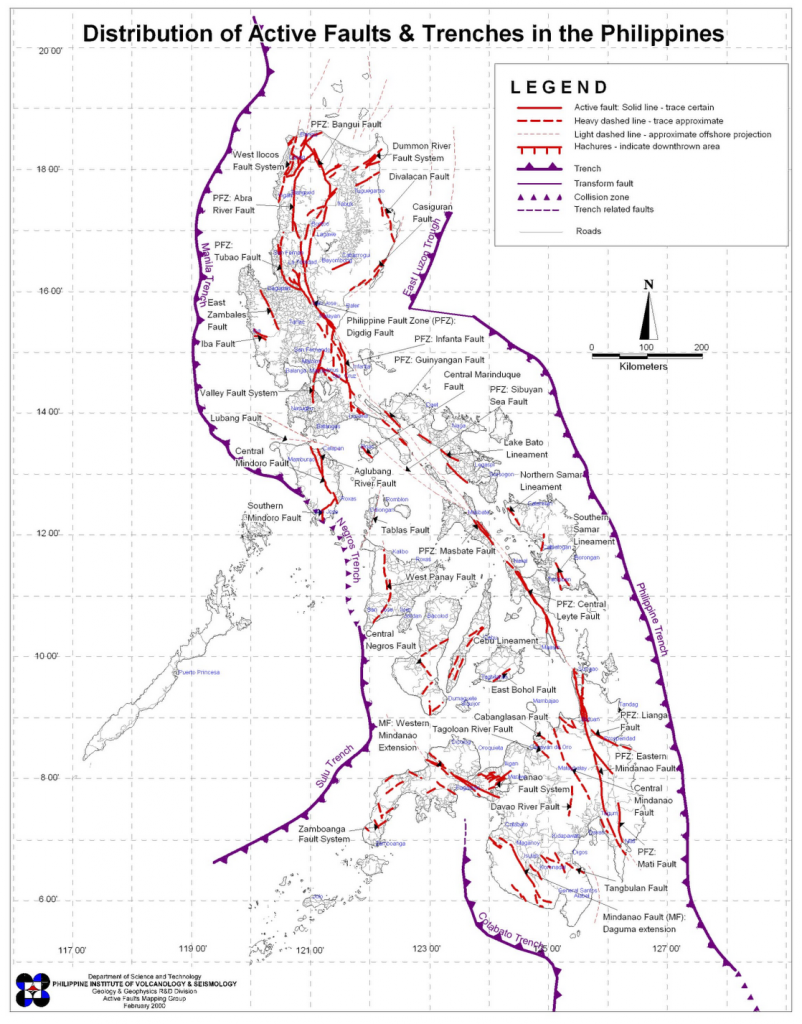 Faults and Trenches in the Philippines
